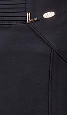 Легкая офисная модель женской юбки черного и темно-синего цвета, фото 3