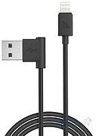 USB кабель Hoco L Shape Ligtning Cable Black (UPL11)