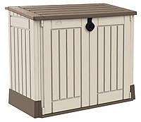 Ящик для хранения Keter Store-It-Out Midi 845 л Бежевый с коричневым