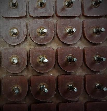 Набойки полиуретановые женские со штырьком Б19 полукруглая коричн., фото 2