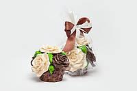 Шоколадная корзина с розами для мамы