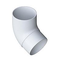 Колено трубы 67. Колено соединительное для трубы, белое. Альта - Профиль.