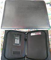 Папка A4 017 1зм 1отд кожзам Bond выдвижные ручки (зажим для бумаги, калькулятор +карман)