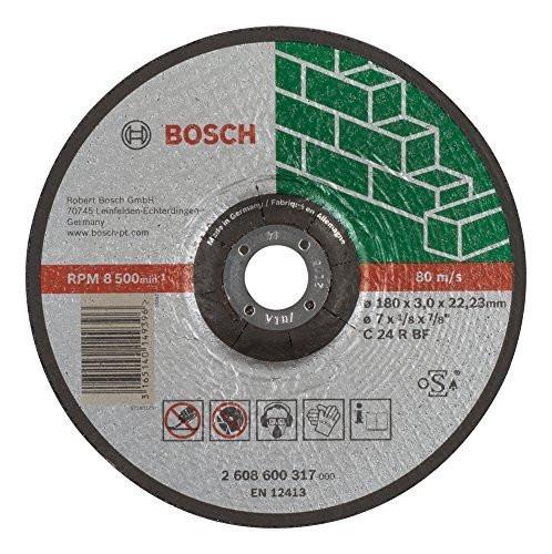 Отрезной круг Bosch камень 180х3 мм вогн, 2608600317