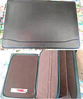 Папка A4 806 2зм 3отд кожзам (зажим для бумаг, карманы, хлястик)