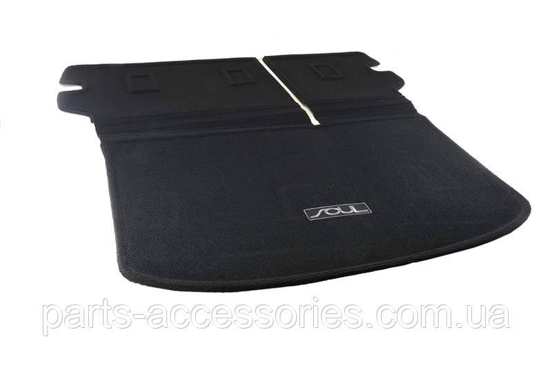 Kia Soul 2014-17 складаний килимок в багажник велюровий новий оригінал