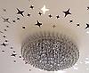 Дзеркальні зірки наклейки 8*5см пластикові, 20шт набір, фото 5