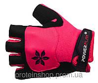 Велоперчатки PowerPlay 5284 женские Розовый, с
