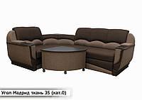 """Угловой диван """"Мадрид"""" в ткани «Savana Brown 08″  (угол взаимозаменяемый)"""
