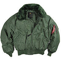 Оригинальная летная куртка B-15 Alpha Industries (оливковая)