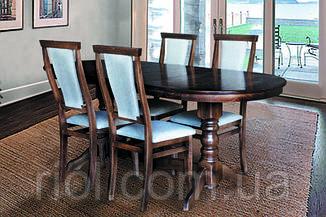 Стол обеденный раскладной Говерла-2 (темный орех)