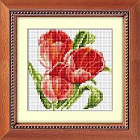Алмазная мозаика квадратными камнями «Букетик с тюльпанами» Dream Art H0419 (на холсте)