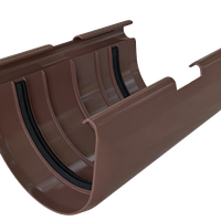 Муфта желоба. Муфта соединительная для желоба. коричневая, фото 1