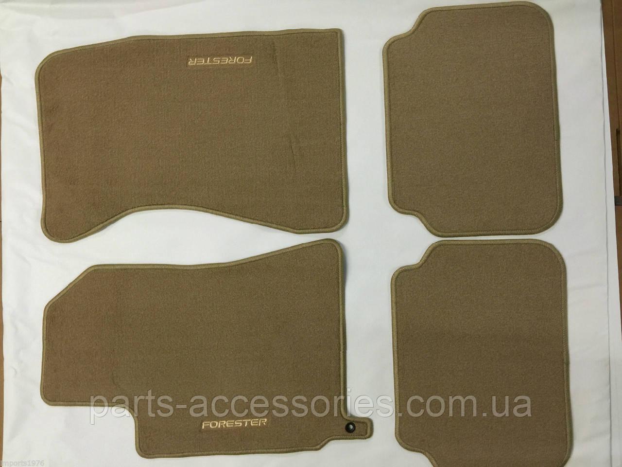 Бежеві велюрові килимки передні задні Subaru Forester 2003-08 нові оригінал