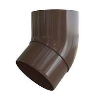Колено трубы 45. Колено соединительное для трубы, коричневое. Альта - Профиль.