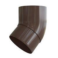 Колено трубы 45. Колено соединительное для трубы, коричневое. Альта - Профиль., фото 1