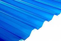 Прозрачный шифер ПВХ Salux WHR 70/18, 1.8 х 0.9 - синий, прозрачный, трапеция