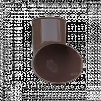 Слив трубы. Колено сливное. Колено слив для трубы, коричневый. Альта - Профиль.