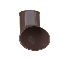 Слив трубы. Колено сливное. Колено слив для трубы, коричневый. Альта - Профиль., фото 1
