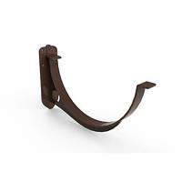 Кронштейн желоба ПВХ. Держатель желоба пластиковый, коричневый. Альта - Профиль.