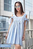 Женское молодежное платье с завязками на руковах (5 цветов)