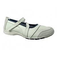 Туфли для девочки кожаные белые B&G