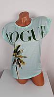 Женская футболка  Пальма