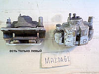 Суппорт тормозной передний левый от Mazda 6, АКПП, 2.0i, 2004 г.в. GJ6A3371XA, GJ6A3371XB