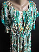 Женские платья из штапеля с поясом., фото 1