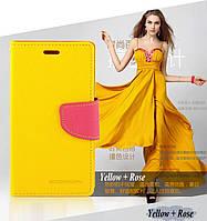 Чохол книжка Mercury для HTC Desire 620G EEA Dual SIM жовтий, фото 1
