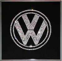 Картина из страз Логотип Фольксваген