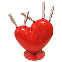 "Набор ножей на подставке""Сердце"""