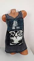 Женская футболка  Кошка в очках