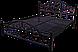 Ліжко на дерев'яних ногах Жозефіна 140х200 металева, фото 3