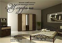 Кровать на дер. ногах Жозефина 140х200  металлическая