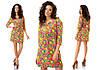 Женское платье креп шифон в трёх расцветках  , фото 2