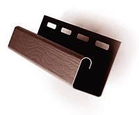 Планка J-trim коричневый Соффит (Польша)