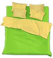 Семейный комплект постельного белья green-beige