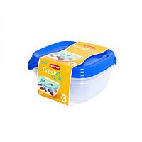 Комплект емкостей для продуктов Fresh&Go 3шт *0.8 литра Curver