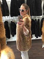 Шуба из меха лисы рукав 3/4 украинское производство цены оптовые