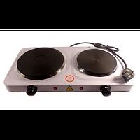 Электрическая плита HP 5822, настольная электроплита, плита 2 конфорочная электрическая
