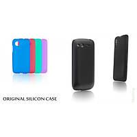 Силиконовый чехол накладка Original Silicon Case Nokia 210 Asha Violet