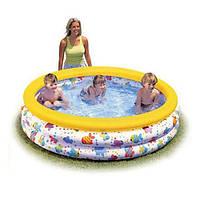 Классический бассейн Интекс детский 56440, надувной, расцветка «Разноцветный всплеск», 168 см, 481 л