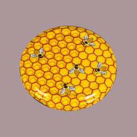 Крышка для консервирования твист-офф размер 82 мм с пчелами