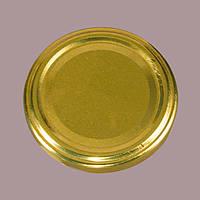 Крышка твист-офф 82 мм золотая под стеклянную банку