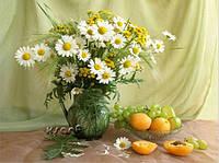 Алмазная вышивка Ромашки и абрикосы KLN 40 х 30 см (арт. FS172) полное заполнение, фото 1