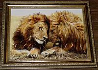 Романтическая картина со стразами Семейство львов, фото 1
