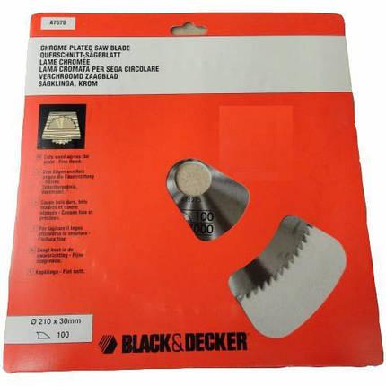 Пильный диск Black&Decker, 210 мм, фото 2