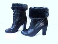 Элитные ботинки женские средний каблук