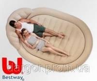 Надувная круглая двуспальная кровать BestWay 67397